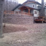 new energy large retaining wall